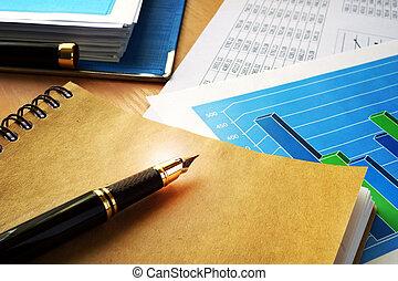 empresa / negocio, contabilidad, concept.