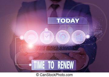 empresa / negocio, continuar, escritura, renew., protection...