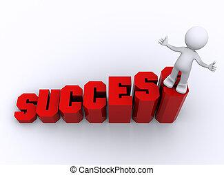 empresa / negocio, crecer, business., éxito, concepto