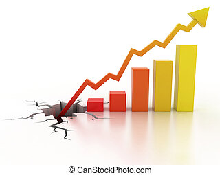 empresa / negocio, crecimiento financiero, concepto
