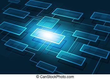 empresa / negocio, diagrama flujo, plano de fondo