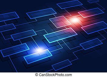 empresa / negocio, diagrama flujo, resumen, plano de fondo