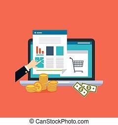 empresa / negocio, en línea