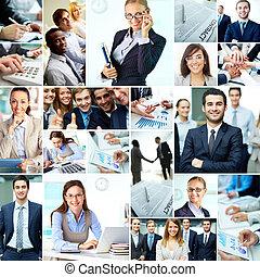 empresa / negocio, en, progreso