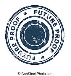 empresa / negocio, estampilla, futuro, prueba, concepto, caucho