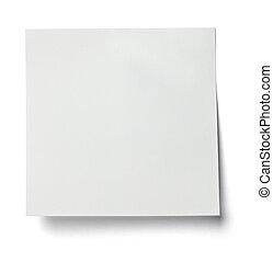 empresa / negocio, etiqueta, nota, papel, blanco, mensaje