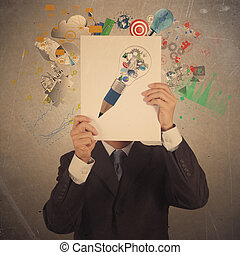 empresa / negocio, exposición, sociedad, cubierta, mano,...