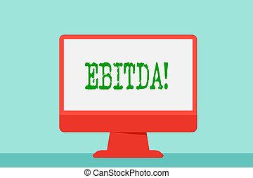 empresa / negocio, foto, actuación, impuesto, escritura, nota, ebitda., ganancias, evaluar, showcasing, perforanalysisce., medido, compañía, antes
