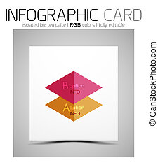empresa / negocio, geométrico, infographic, forma, tarjeta