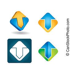empresa / negocio, icono, conjunto