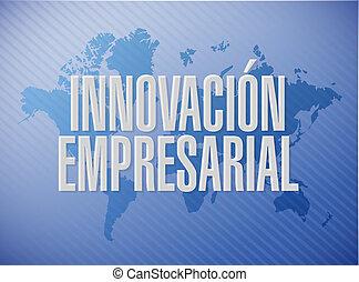 empresa / negocio, innovación, mapa del mundo, señal, en, español