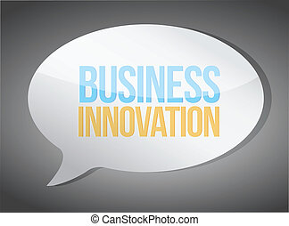 empresa / negocio, innovación, mensaje, ilustración