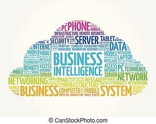 empresa / negocio, inteligencia, palabra, nube