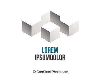 empresa / negocio, logotipo, resumen, geométrico, icono, diseño