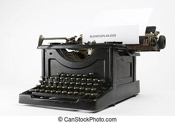 empresa / negocio, máquina de escribir