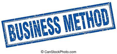 empresa / negocio, método, cuadrado, estampilla