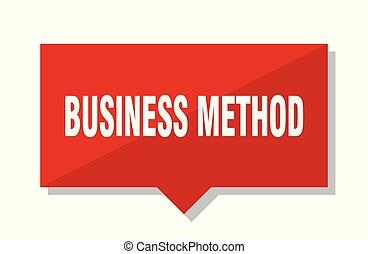 empresa / negocio, método, etiqueta roja