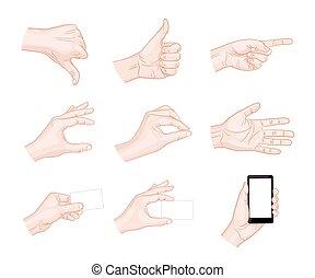 empresa / negocio, mano, gestos