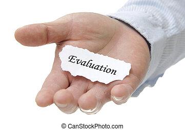 empresa / negocio, mano, nota, tenencia, evaluación, hombre