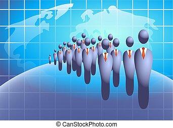 empresa / negocio, multitud