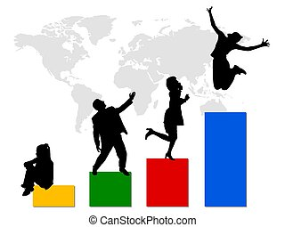 empresa / negocio, mundo, estadística