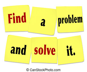 empresa / negocio, notas, él, pegajoso, solucionar, palabras...