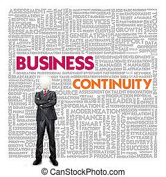 empresa / negocio, palabra, nube, para, concepto de la corporación mercantil, empresa / negocio, continuidad