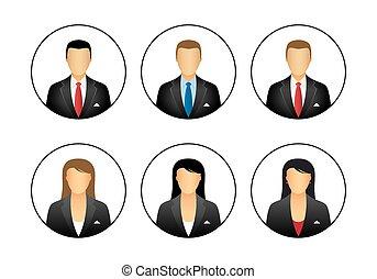 empresa / negocio, perfil, iconos