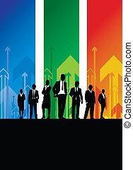 empresa / negocio, personas de plano de fondo