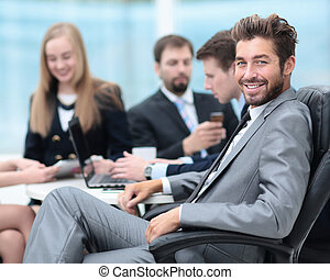 empresa / negocio, personas., equipo negocio, trabajo encendido, su, empresa / negocio, proyecto