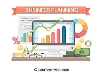 empresa / negocio, planificación, concept.