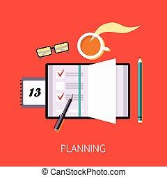 empresa / negocio, planificación, concepto, arte