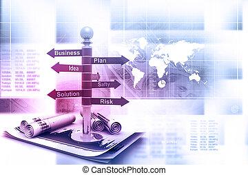 empresa / negocio, planificación, diagrama flujo