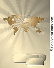 empresa / negocio, plano de fondo, con, mapa del mundo