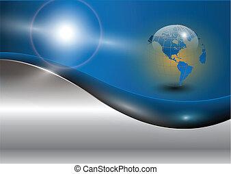 empresa / negocio, plano de fondo, con, mundo, glob