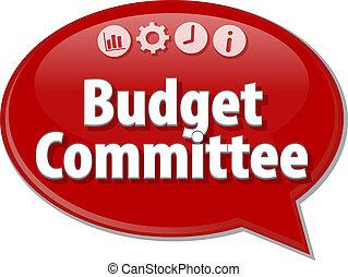 empresa / negocio, presupuesto, ilustración, diagrama, comité, blanco