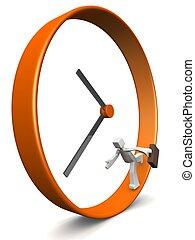 empresa / negocio, prisa, concepto, hora, hombres
