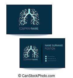 empresa / negocio, pulmonar, clínica, tarjeta