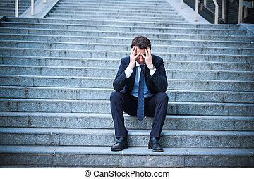 empresa / negocio, quiebra, después, problema, fracaso