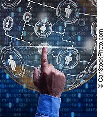 empresa / negocio, red, en, el, digital, edad