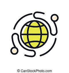 empresa / negocio, red, icono, color