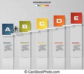 empresa / negocio, resumen, 5, paso, escalera