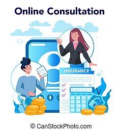 empresa / negocio, servicio, en línea, o, platform., seguro...