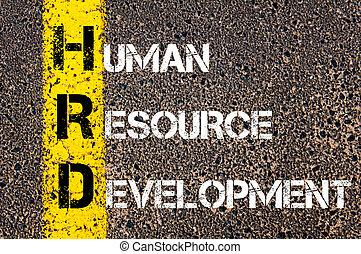 empresa / negocio, siglas, hrd, ¿?, humano, recurso, desarrollo