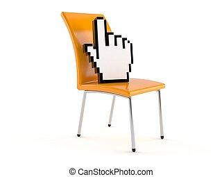 empresa / negocio, silla, con, internet, cursor