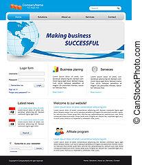 empresa / negocio, sitio web, plantilla