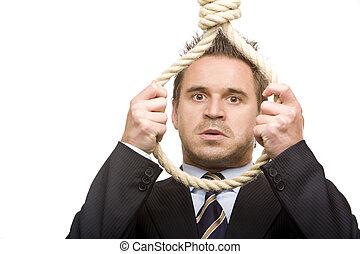 empresa / negocio, suicidio, hombre, econimic, crisis, ...