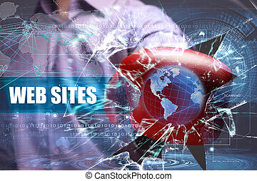 empresa / negocio, tecnología, internet, y, red, security., sitios web