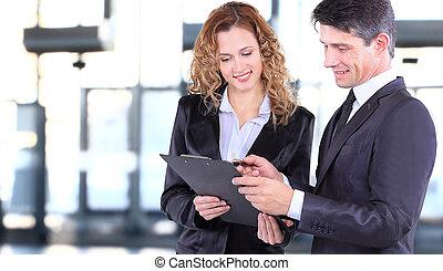 empresa / negocio, trabajando, equipo