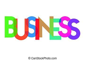 empresa / negocio, transparant, carta, colorido